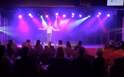 Performing on stage at Butlins